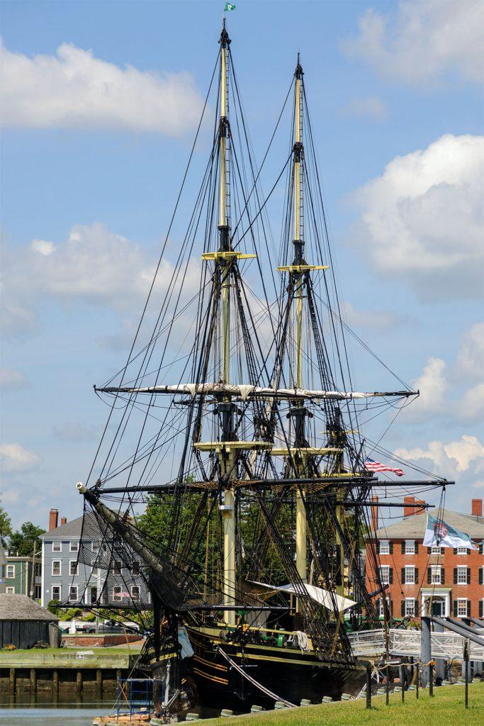 Die 'Friendship of Salem', Nachbau eines Segelschiffes von 1797