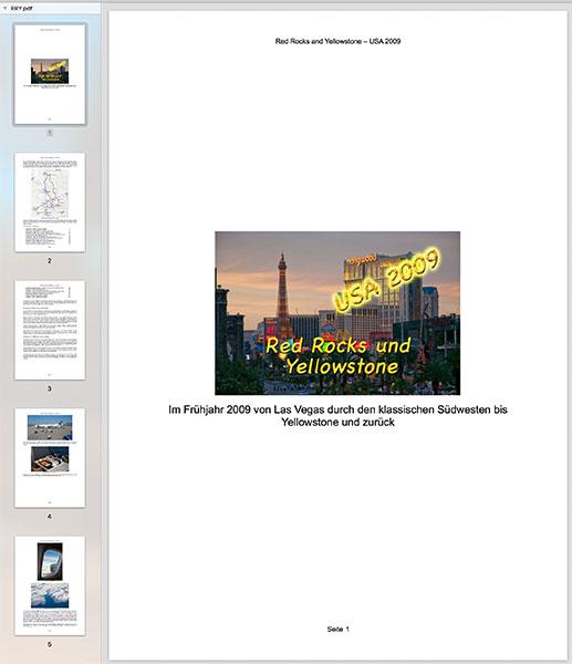 Reisebericht 2009